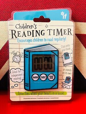 If Children's Reading Timer - Blue. Encourage your children to read regularly!