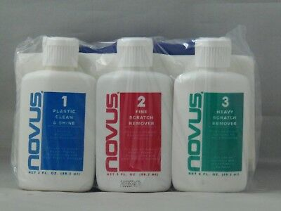 Novus 7136 #1 #2 #3 Plastic Polish Kit Cleaner Shine 2Oz Bottle  Packaged By Us