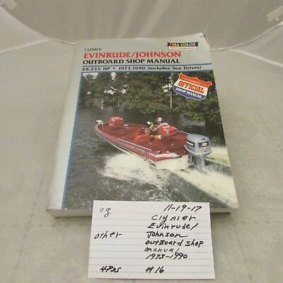 1973 1990 evinrude johnson 24 stroke 48 235 outboard clymer repair clymer evinrudejohnson outboard shop manual 48 235 hp 1973 1990 official 1119 fandeluxe Image collections