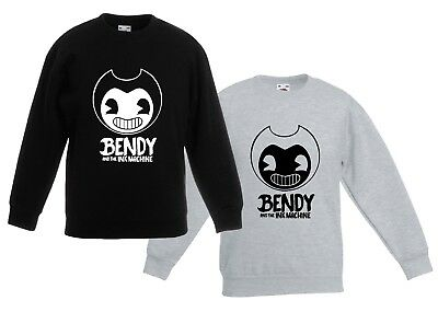 BENDY AND THE INK MACHINE sweatshirt CHILDRENS kids JUMPER YouTube Gaming