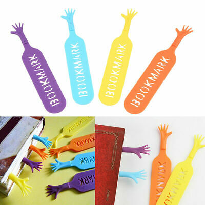 4pcs Funny Help Me Bookmarks Pad Note Stationery Soft Plastic Novelty Book Mark