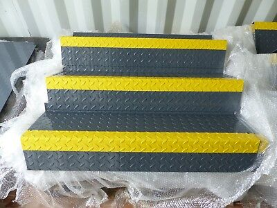 Staircase Treads, metal treads, chequer plate tread, durbar, powder coated tread