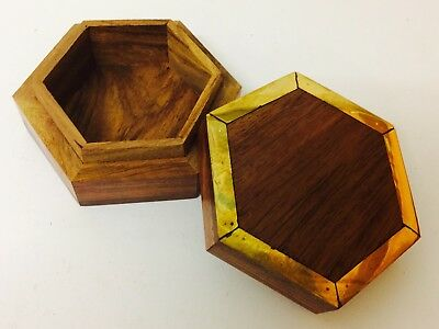 Mini Small Memorial Keepsake Remembrance Wood Box Pet Cremation Ash Casket Urn