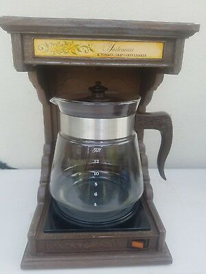 Vintage 1970's Farberware Country Coffeemaker, 12 Cup Drip Automatic Made in USA