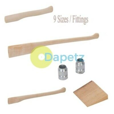 Replacement Axe Hatchet Chopper Splitters Solid Beech Wooden Handles & Wedge Kit