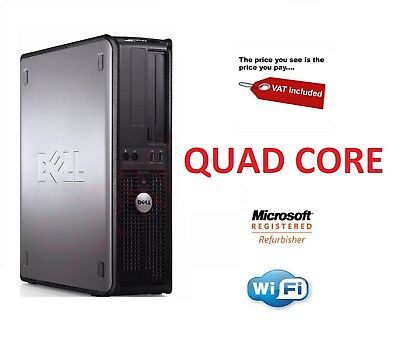 FAST DELL QUAD CORE PC COMPUTER  WINDOWS 7 or 10 WI-FI  WARRANTY BARGAIN CHEAP