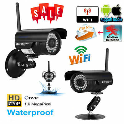 Wireless WiFi 720P HD IP Network Camera Outdoor CCTV Security IR Night Vision