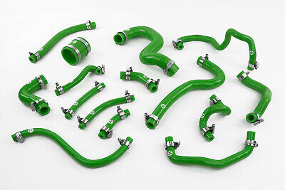 Stoney Racing Toyota Celica GT4 ST205 Silicone Breather & Vacuum Hose Kit Green
