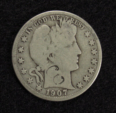 "1907-O Barber Half Dollar Counter Stamp ""3"""