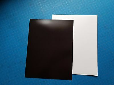 "PLAIN White Magnet Sheet 12"" x 8.5"" (1 SHEET of 30 mil Thick)"