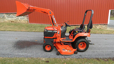 Very Nice 2003 Kubota Bx2200 4x4 Compact Tractor W Loader Belly Mower 400 Hrs