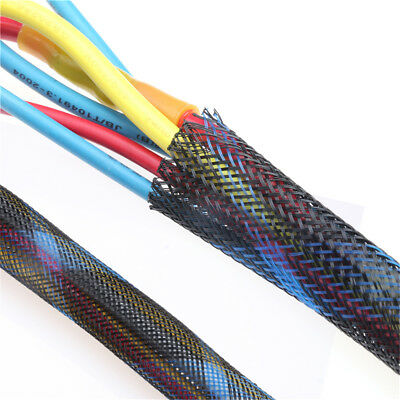 Seal Cable Protection Blue+Black Braided PET Expandable 4/6/8/10/12/15/20/25mm
