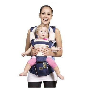 NEW Bebamour Sling and Baby Carrier 2 in 1- Dark Blue; MONEY BACK GUARANTEE