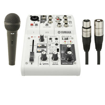 Yamaha AG03 3-Channel Mixer Podcast Bundle W/ Free Microphone & XLR Cable *New*