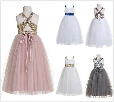 Sweetheart Neckline Cross Straps A-Line Flower Girl Dresses Pageant Dresses 173