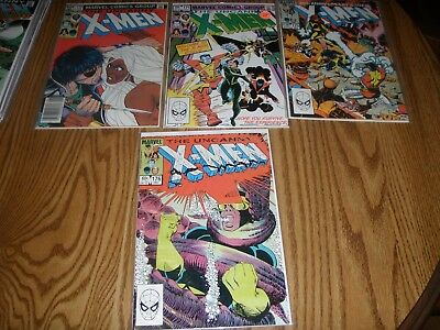 Uncanny X-Men Lot F/VF Avg. 170, 171, 175, 176, 180-189 (complete). 14 Issues
