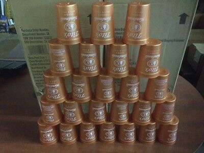 (Lot of 25) Tito's Vodka Copper Plastic Cups 12 oz cups (NEW)