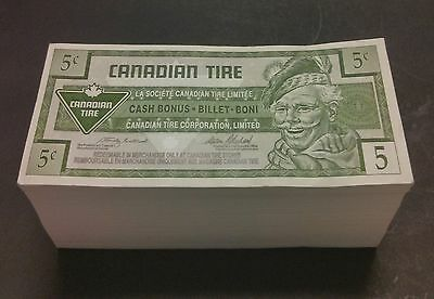 """UNC"" 1996 One Brick 500 Canadian Tire Money 5 Cents, 0023800001~0023800500"