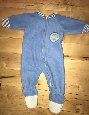 Vintage Bundles by Sterncraft Baby Boy Sleeper Pajamas Small 0-6 months Fleece