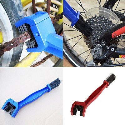 Cycling Motorcycle Bike Portable Gear Chain Brush Grunge Clean Cleaning Tool ol