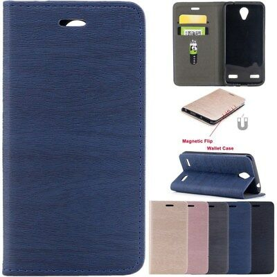 Wallet Magnetic Flip Cards Stand PU Leather Case Cover For ZTE Blade A520 BA520