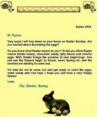 Personalized Letter from Easter Bunny