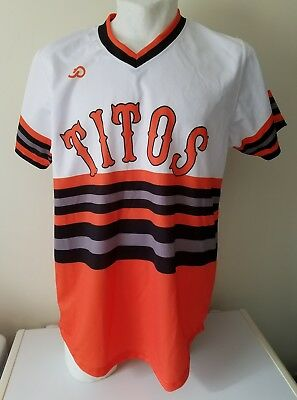 Titos Tito's Jersey shirt 99 Handmade Vodka Baseball Softball V-Neck Promotional
