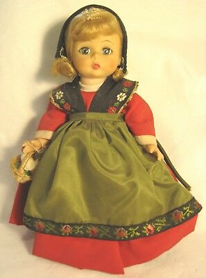 Vintage 1970's Madame Alexander, Alexanderkins Swedish Doll Bent Knee All Orig