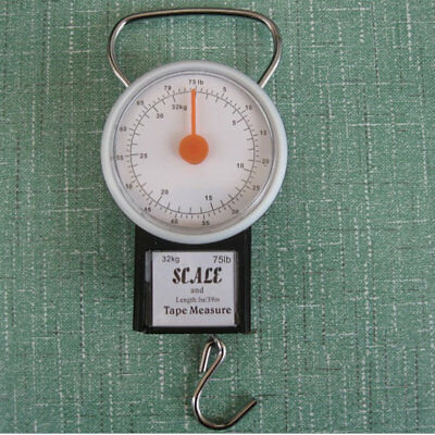 22kg Portable ABS Scale Fishing Hook Said Weighing Kitchen With Tape Measure AZ