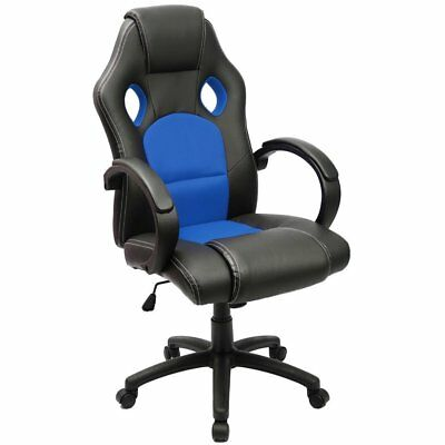 Gaming Chair Racing Computer Chair PU Leather Swivel Office Desk Seat PU Leather