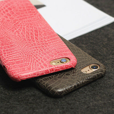 New Luxury Crocodile Pattern PU Leather Skin Case Cover for iPhone 8 8 Plus 7 6S