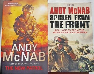Andy McNab, x 2 books, The New Patrol & Spoken From The Front, VG~P/B  FREE POST