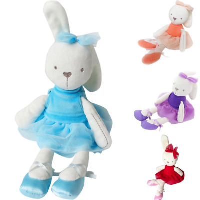 US Stock Bunny Soft Plush Toy Rabbit Stuffed Baby Kids Gift Animals Doll Easter