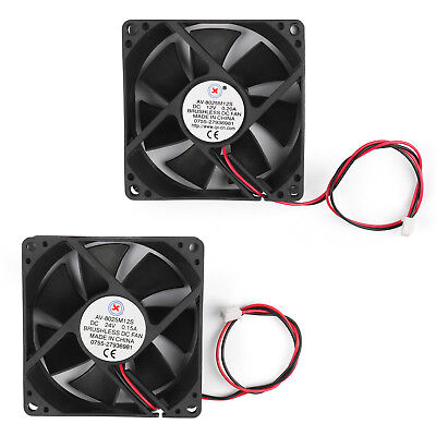 DC Brushless Cooling PC Computer Fan 12V 24V 8025s 80x80x25mm 0.2A 2Pin Wire AU