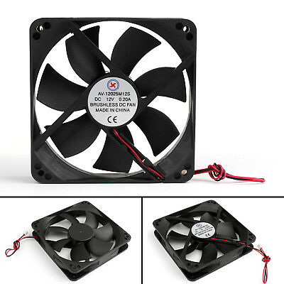 DC Brushless Cooling PC Computer Fan 12V 12025s 120x120x25mm 0.2A 2 Pin Wire AU