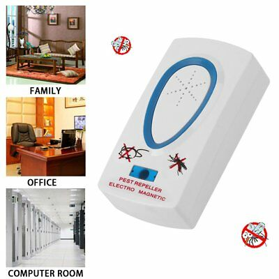 Electronic Ultrasonic Mouse Rat Mosquito Insect Rodent Control Pest Repeller 6O