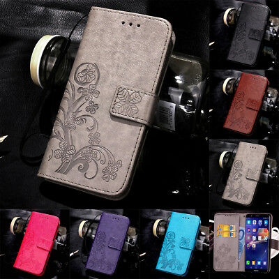 For Huawei Honor 7 8 9 10 Lite Magnetic Pattern Leather Flip Wallet Case Cover