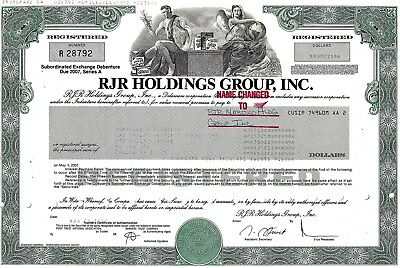 RJR Holdings Group Inc., 1990, Debenture due 2007  (35.025 $)- TABAK (Camel)