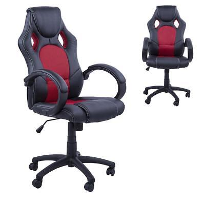 Homcom Racing Gaming Sports Chair Swivel Desk Executive Leather Office...