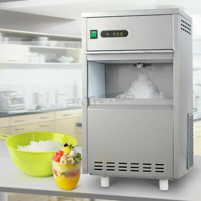 Countertop Freestand Automatic Crusher Ice Maker Machine Stainless Steel Flake