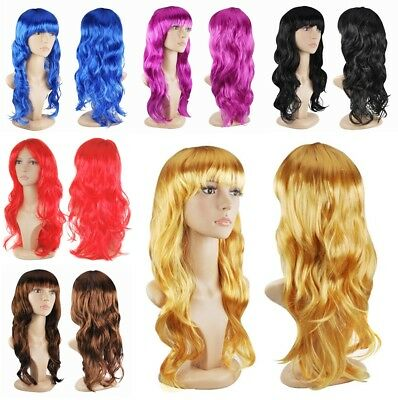 Women's Sexy Long Curly Fancy Dress Full Wigs Cosplay Costume Wig Party