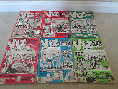 Vintage Collection Of 6 Viz Comics Early Editions 1988/1989 27 31 32 33 34 & 36