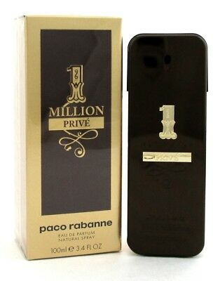 1 Million Prive By Paco Rabanne Eau De Parfum Spray 3.4 Oz. For Men. NIB Sealed