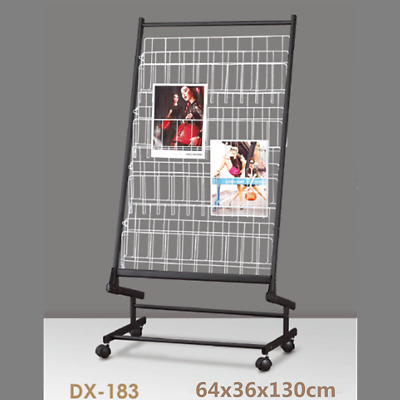 Freestanding Magazine Newspaper Stand Brochure Holder Storage Display Rack #183