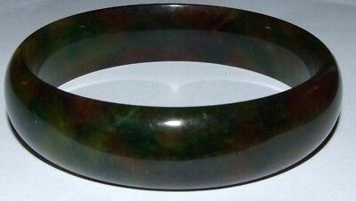 Vintage Oriental Chinese Natural Jade Bangle. Fabulous Colours.