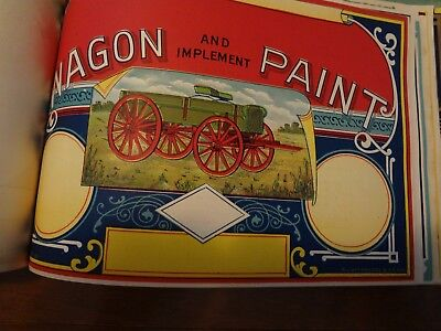 R L Kittredge Paint and Varnish Colorful 1930's ART Can Labels Catalog * Chicago