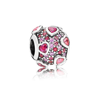New Authentic Pandora Explosion of Love Multi-Colored 796555CZSMX Charm Bead