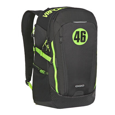 OGIO VR46 Apollo Motorcycle Backpack-Black/Green