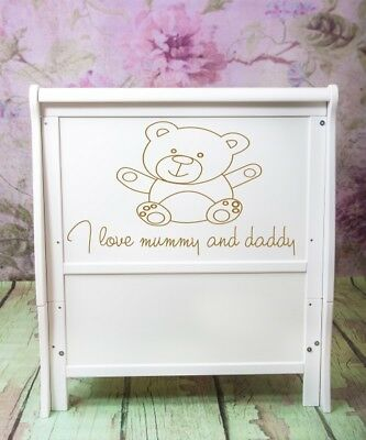 Wooden Baby Cot Bed - Converts to Junior Bed - 120 x 60 cm
