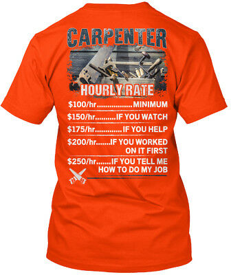 On trend Awesome Carpenter - Hourly Rate Hanes Tagless Hanes Tagless Tee T-Shirt